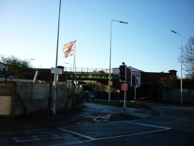 The railbridge on Stoneferry Road, Hull