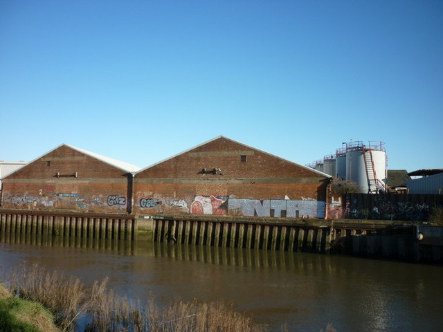 Buildings along the River Hull