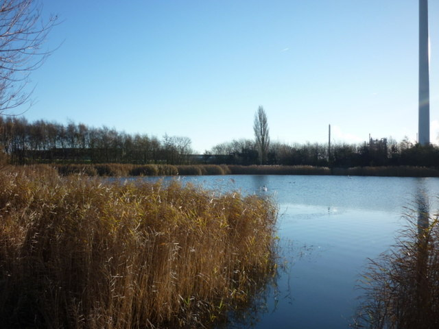 A fishing lake near Oak Road Playing Fields