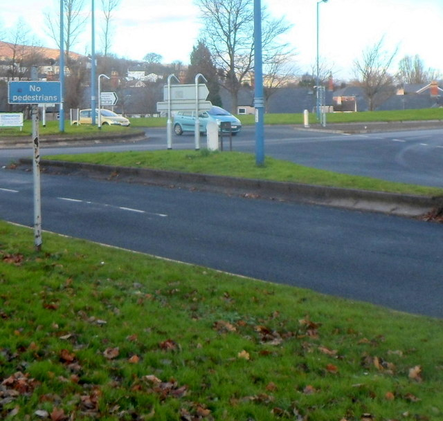 No pedestrians sign, Cwmbran