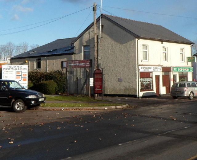 Three Llandowlais Street businesses, Cwmbran