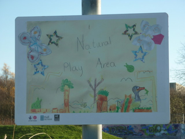 A natural Play Area in Oak Road playing fields