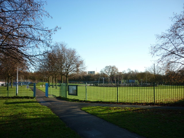The play area at Oak Road playing fields