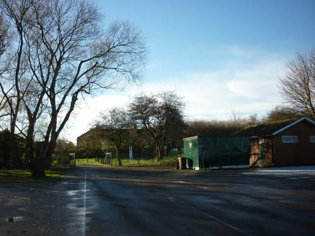 The car park at Oak Road playing fields