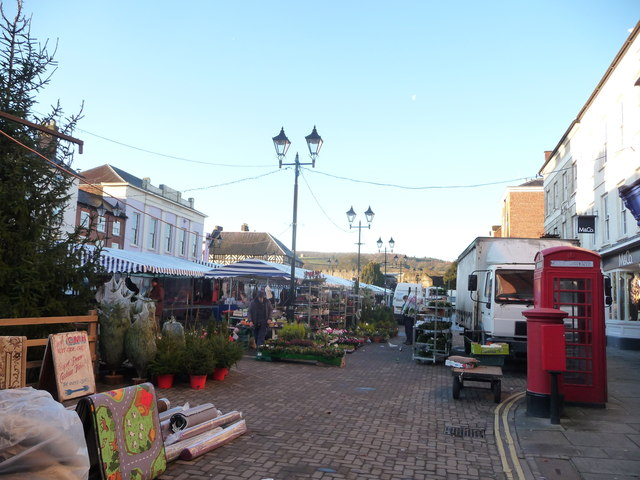 Part of Ludlow market in December
