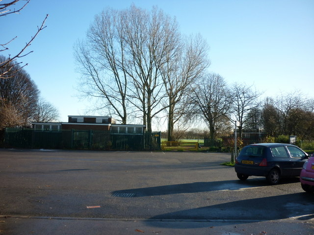 A car park at Oak Road playing fields