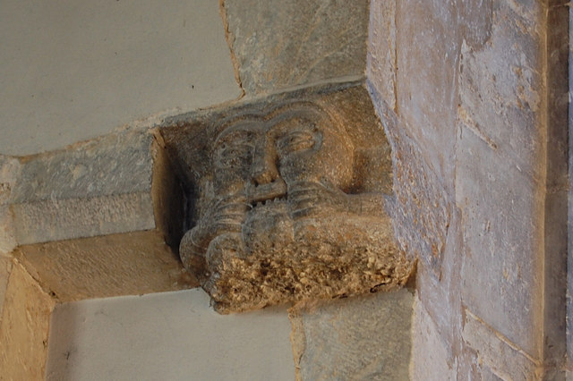Carved Face, St Michael's church, Smarden