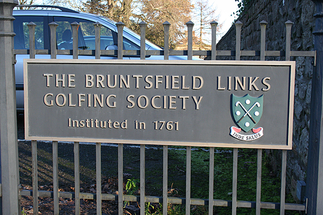 Bruntsfield Links Golfing Society Name Plaque