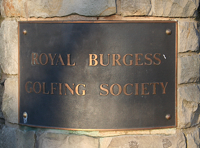 Royal Burgess Golfing Society Name Plaque