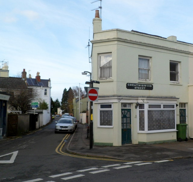 Corner of Great Norwood Street and Andover Road, Cheltenham