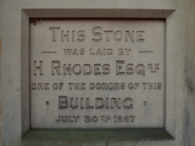 Victoria Hall Foundation Stone