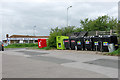TQ3107 : Recycling bins, Hollingbury by Robin Webster