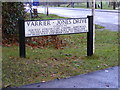 TL2863 : Varrier-Jones Drive sign by Adrian Cable