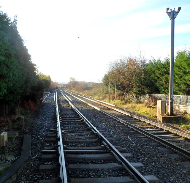 A view south from Oldends Lane level crossing, Stonehouse