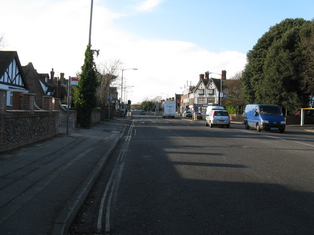 A road junction in Worthing