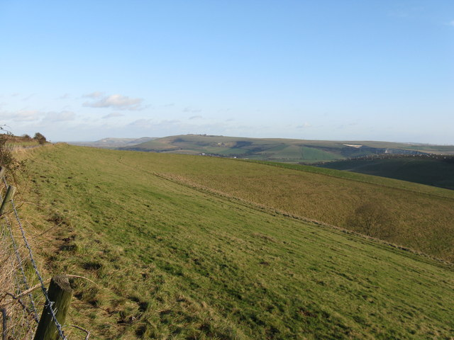 View east from the northern end of Steyning Bowl