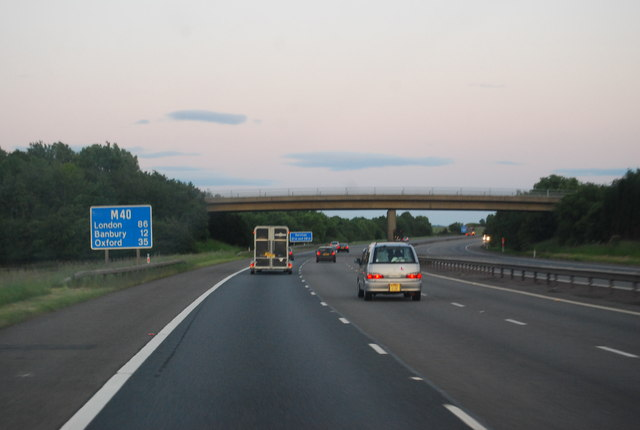 M40 - bridge at Gaydon Fields