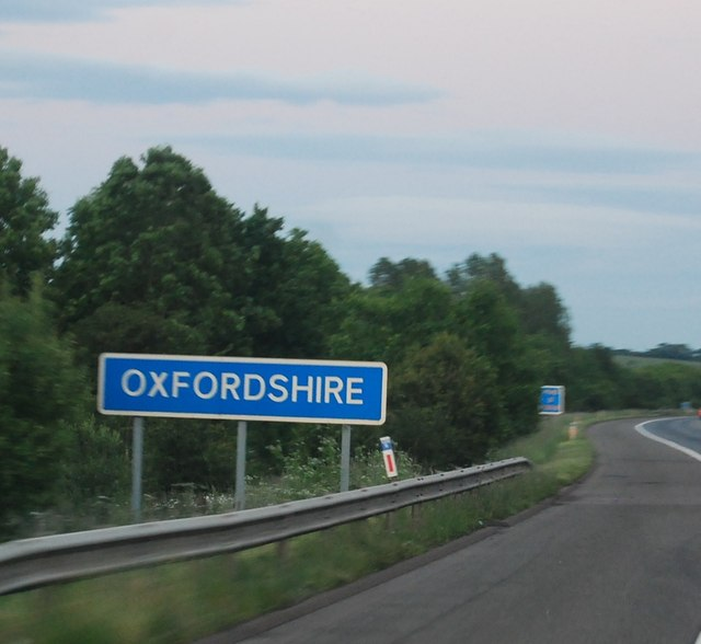 M40 entering Oxfordshire