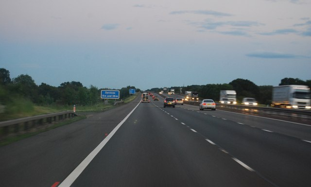 M40 - southbound at dusk