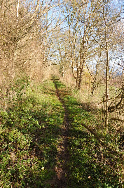 Footpath around Sutton Walls Fort