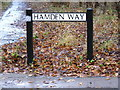 TL2863 : Hamden Way sign by Adrian Cable