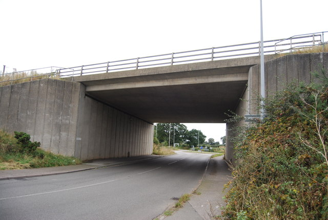 A14 bridge over the A1189