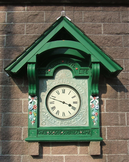 Clock near Cremyll Ferry landing