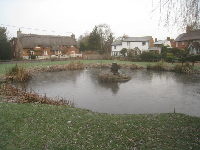 Thin ice - Oakley village pond