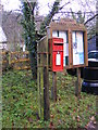 TL2662 : Yelling Parish Notice Board &amp; Yelling Postbox by Adrian Cable