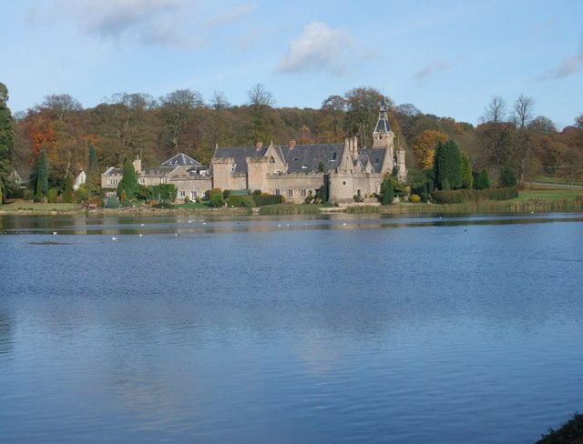 Looking across Upper Lake to The Fort, Newstead Abbey