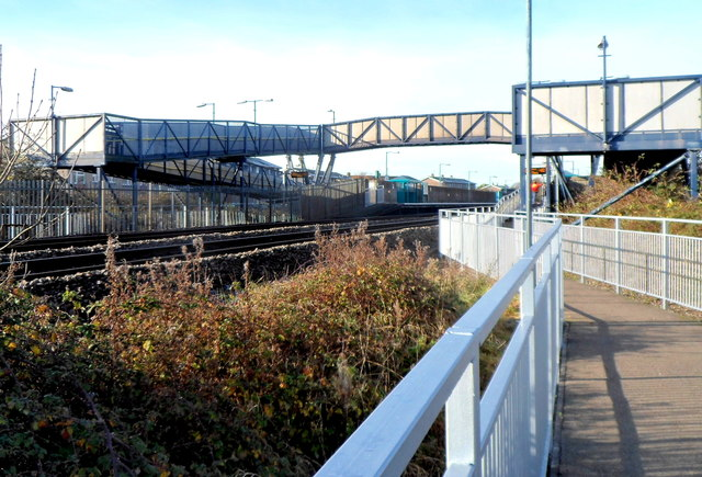Pyle railway station footbridge