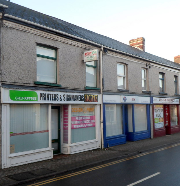 Three Victoria Street businesses, Cwmbran