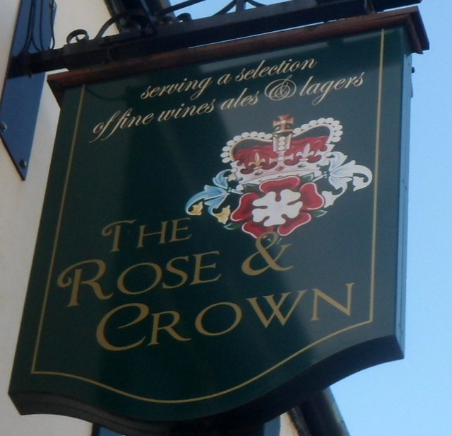 The Rose & Crown pub sign, Old Cwmbran
