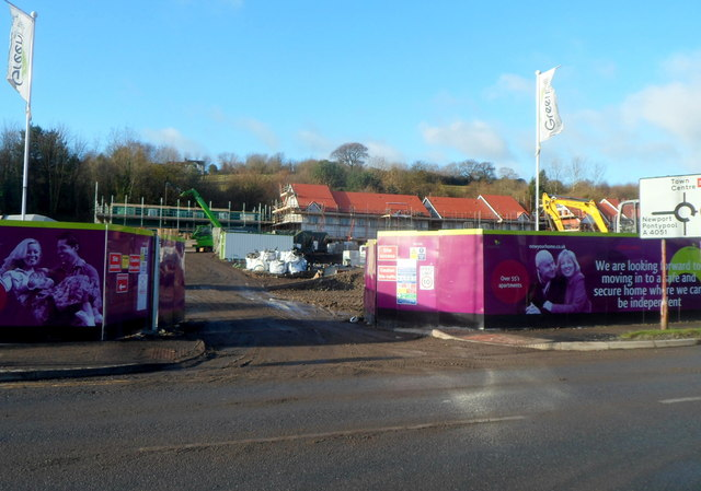 Greenhill Construction site, Cae Nant, Cwmbran