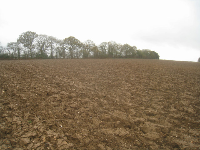 Heavily ploughed field - Rookery Farm
