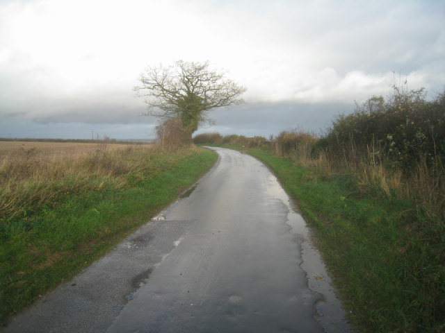 Lane towards A339