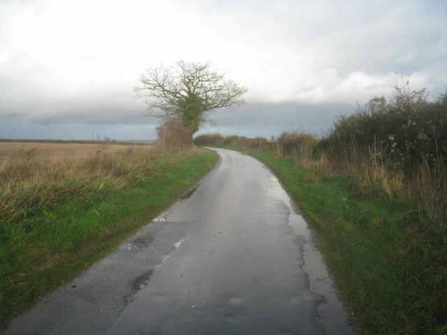 Lane towards A339