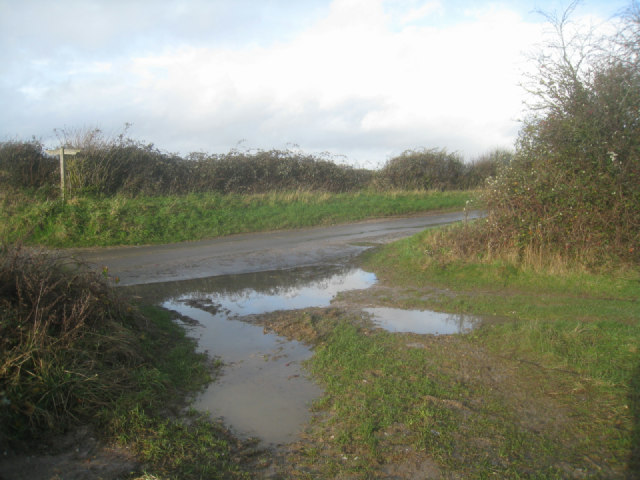 Byway crosses country lane