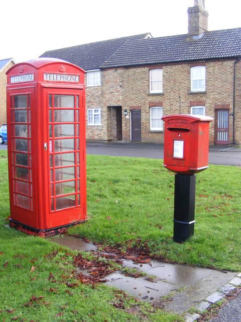 Telephone Box & Eltisley Postbox