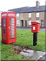 TL2759 : Telephone Box &amp; Eltisley Postbox by Adrian Cable
