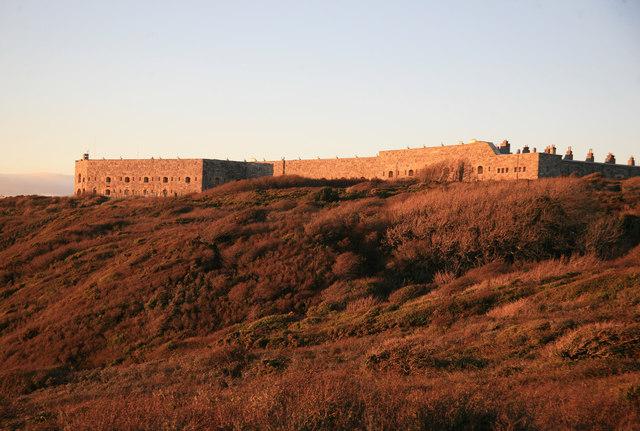 Tregantle Fort at Sunset