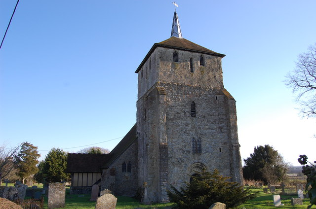 St Mary Magdalene church, Ruckinge, from the west