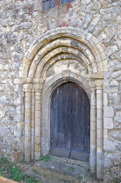 Norman west door, St Mary Magdalene church, Ruckinge