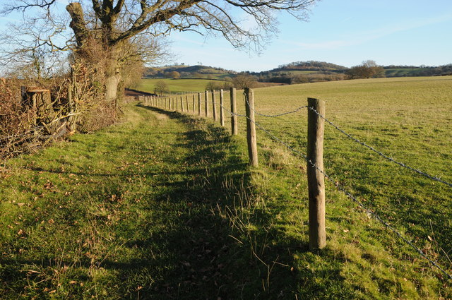 The Herefordshire Trail to the south of Marlas