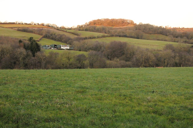 Farmland and Saddlebow Hill