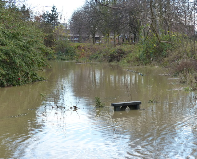 Flooding along the Grand Union Canal