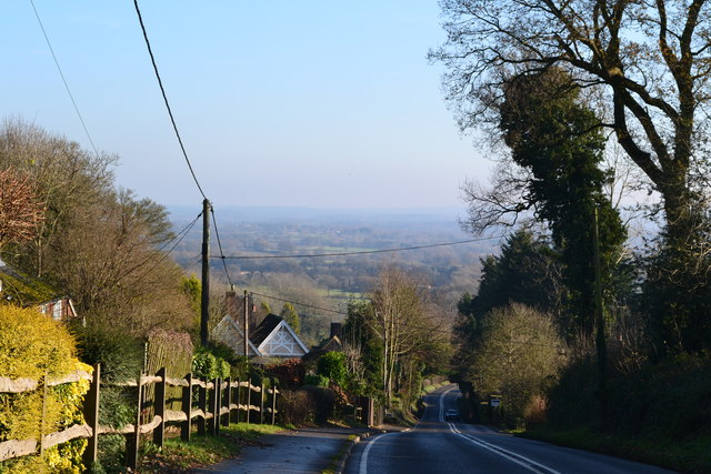 View down Worldham Hill