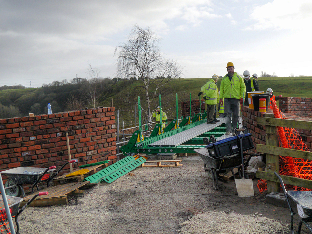 Building the Meccano Bridge at Nob End