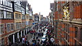 SJ4066 : Christmas Shopping, Watergate, Chester by Richard Cooke