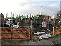 SD7506 : Constructing the Meccano Bridge at Nob End by David Dixon